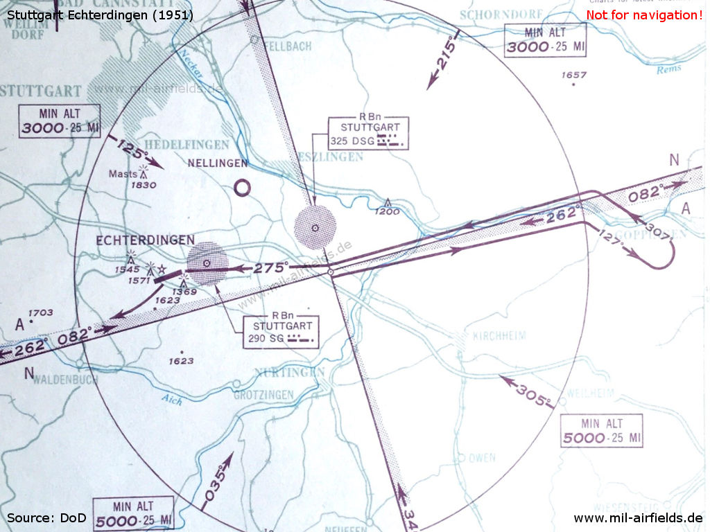 Approach map Echterdingen 1951