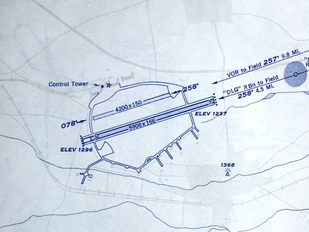 Map of Stuttgart airport from 1953