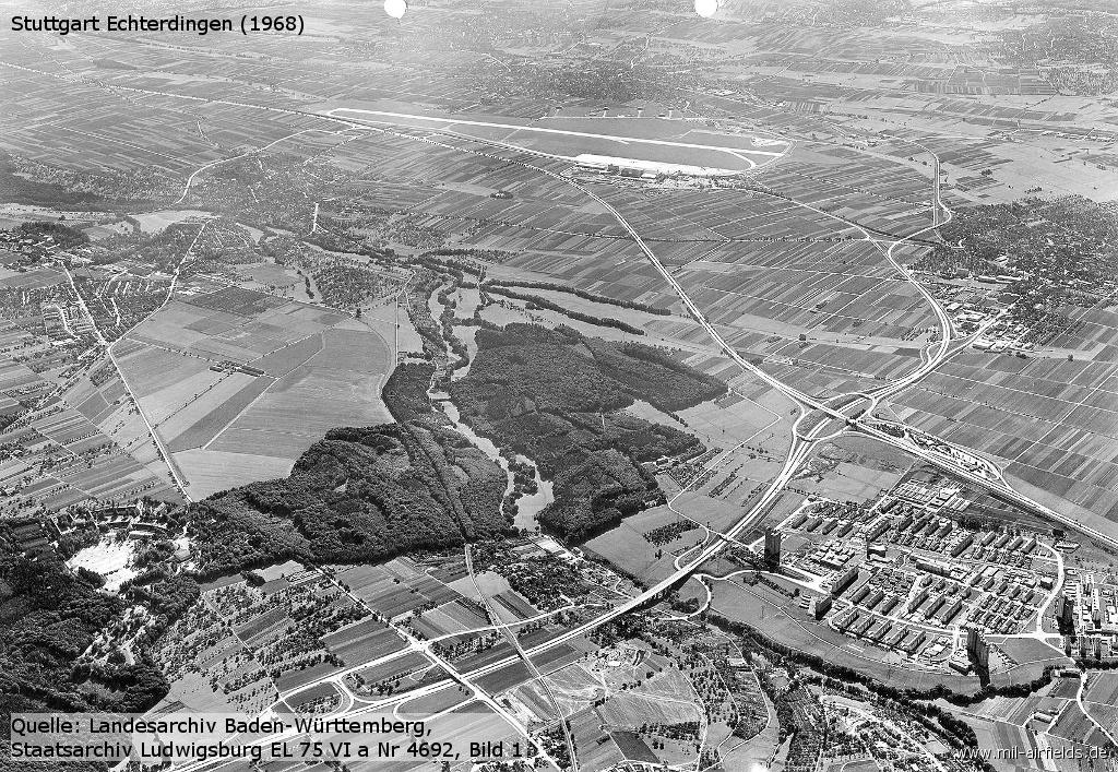 Aerial view 1968, looking southeast