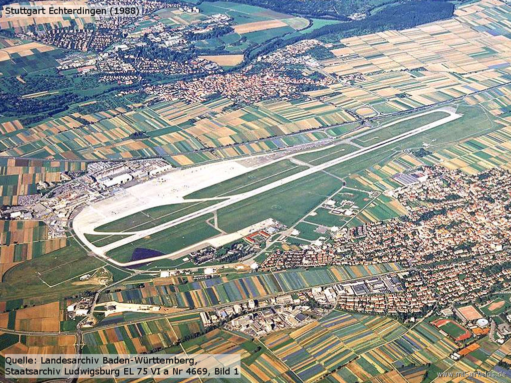 Aerial picture of Stuttgart Echterdingen airfield in 1988