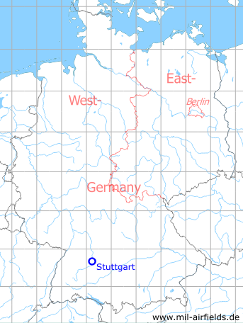 Map with location of Stuttgart Echterdingen airport