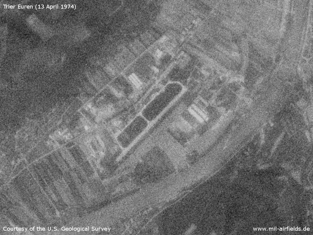 Trier Euren Airfield, Germany, on a US satellite image 1974