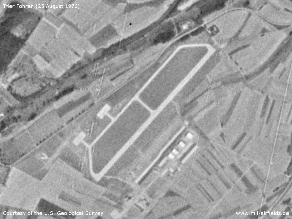 Trier Föhren Airfield, Germany, on a US satellite image 1976