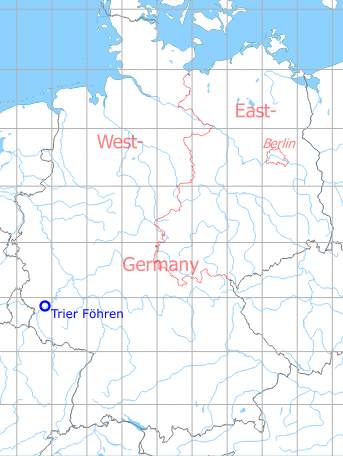 Map with location of Trier Föhren Airfield, Germany
