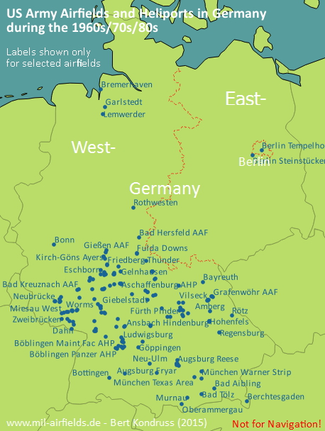 US Army Airfields And Heliports In Germany Military Airfield - Us army strip map