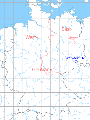 Map with location of Weixdorf Highway Strip, Germany