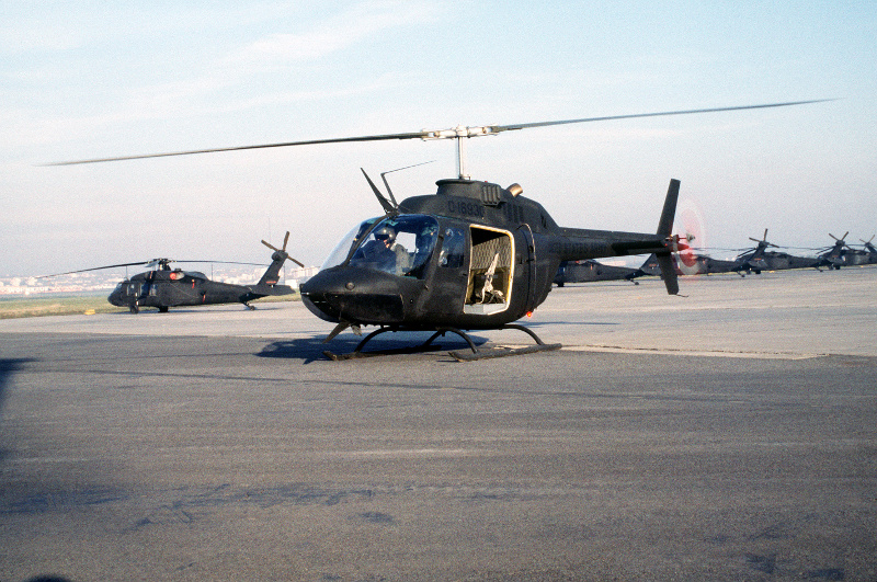 Helicopter OH-58 Kiowa at Wiesbaden Army Airfield, Germany