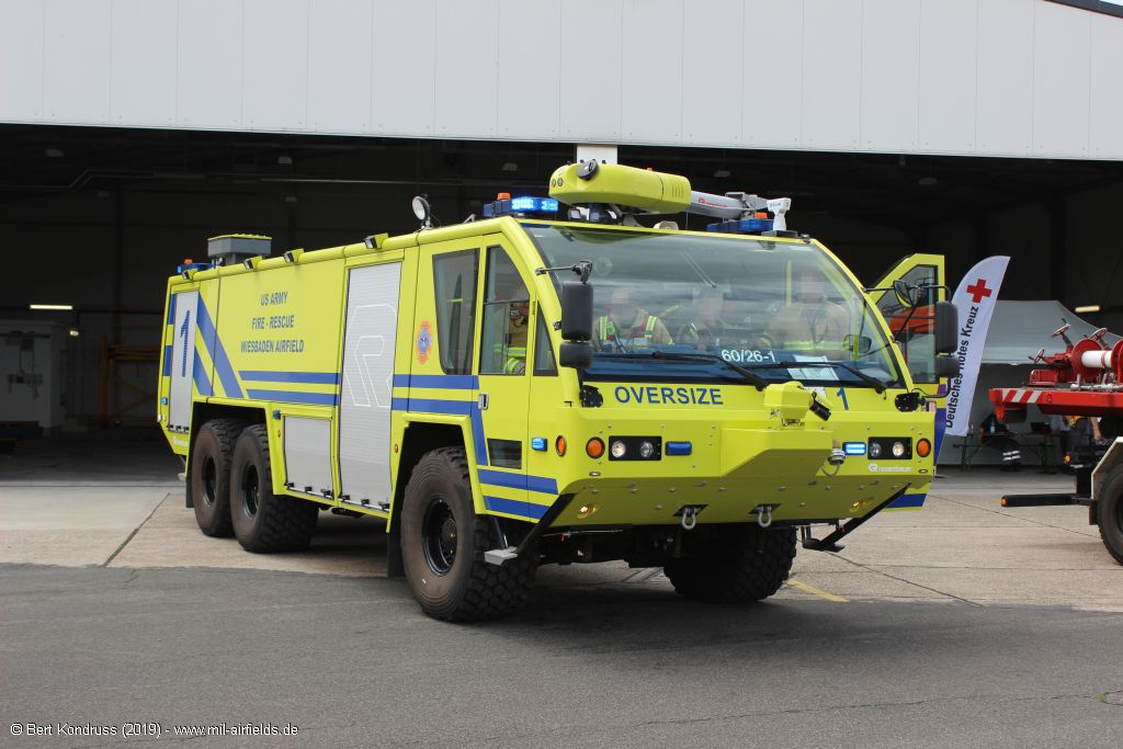 Fire rescue vehicle, Wiesbaden Army Airfield, Germany