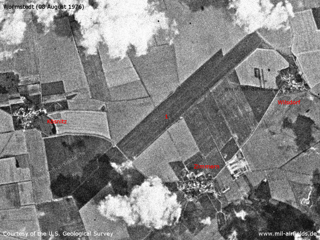 Wormstedt Airfield, GDR, on a US satellite image 1976