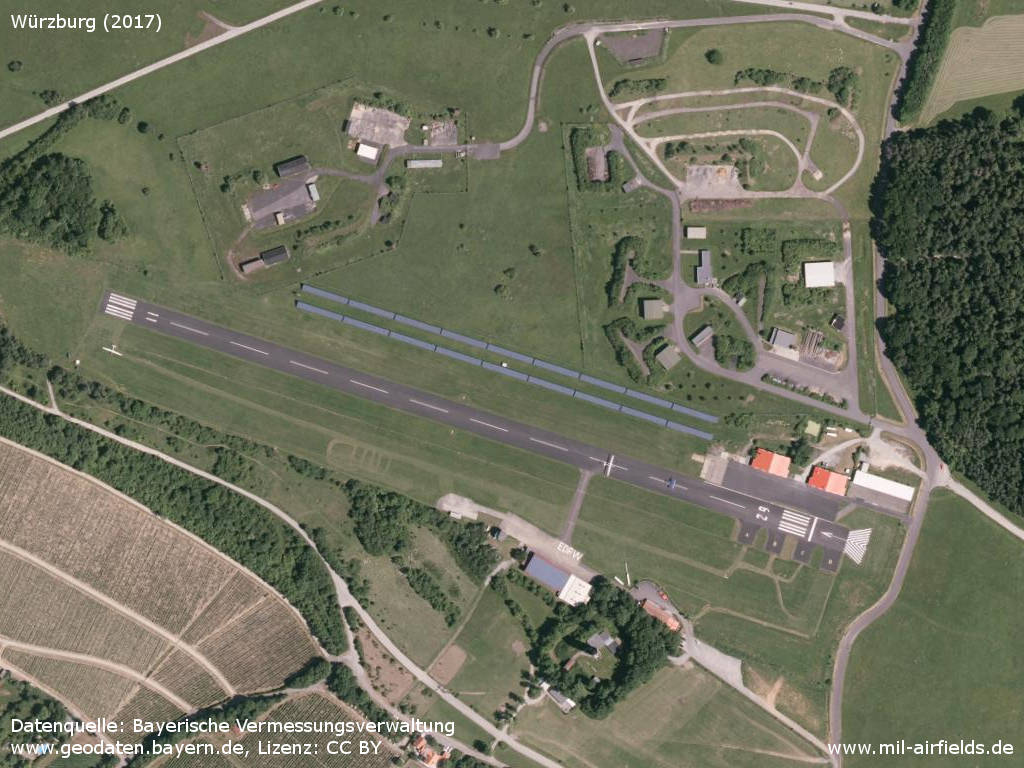 Aerial picture Würzburg Airfield, Germany 2017