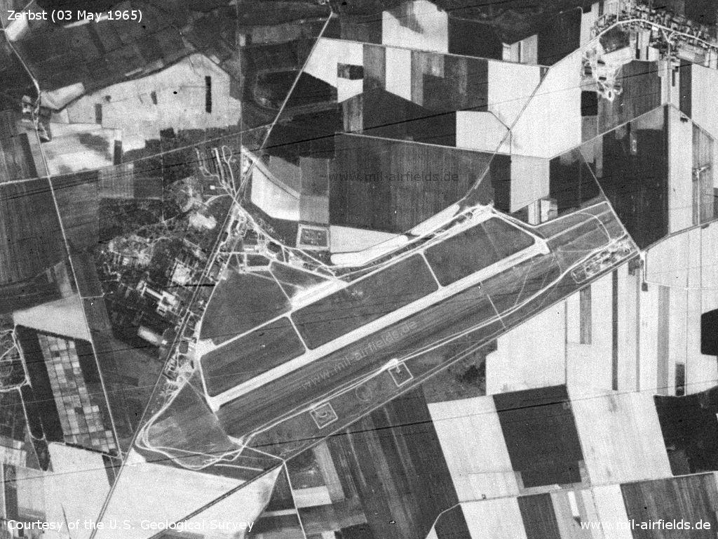 Flugplatz Zerbst auf einem Satellitenbild 1965