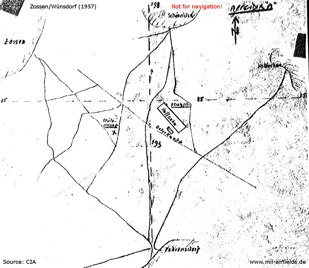 Sketch from CIA report 1957
