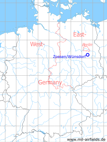 Map with location of the Soviet landing ground