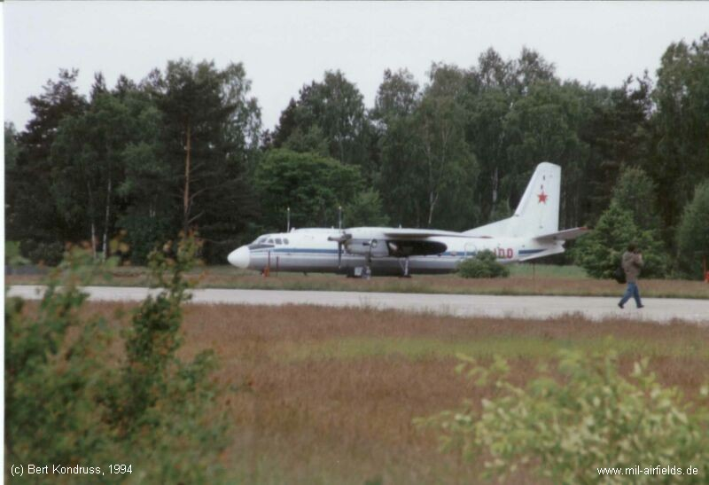 Soviet aircraft Antonov An-24 at Sperenberg Air Base