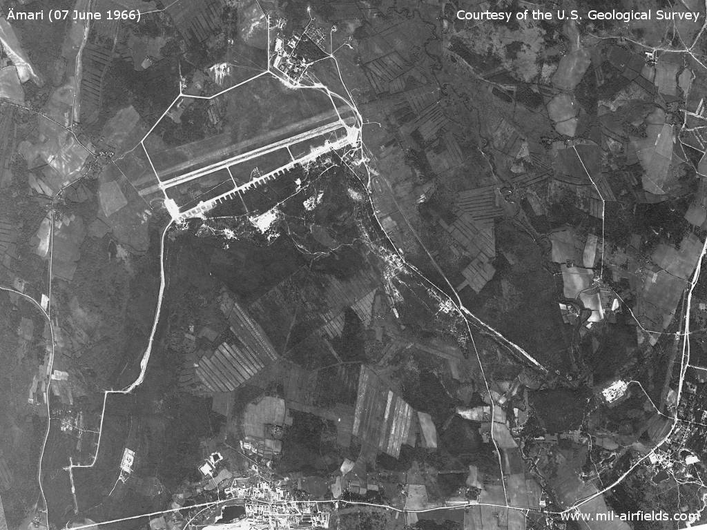 Ämari Air Base on a US satellite picture 1966