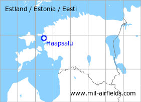 Map with location of Haapsalu Air Base