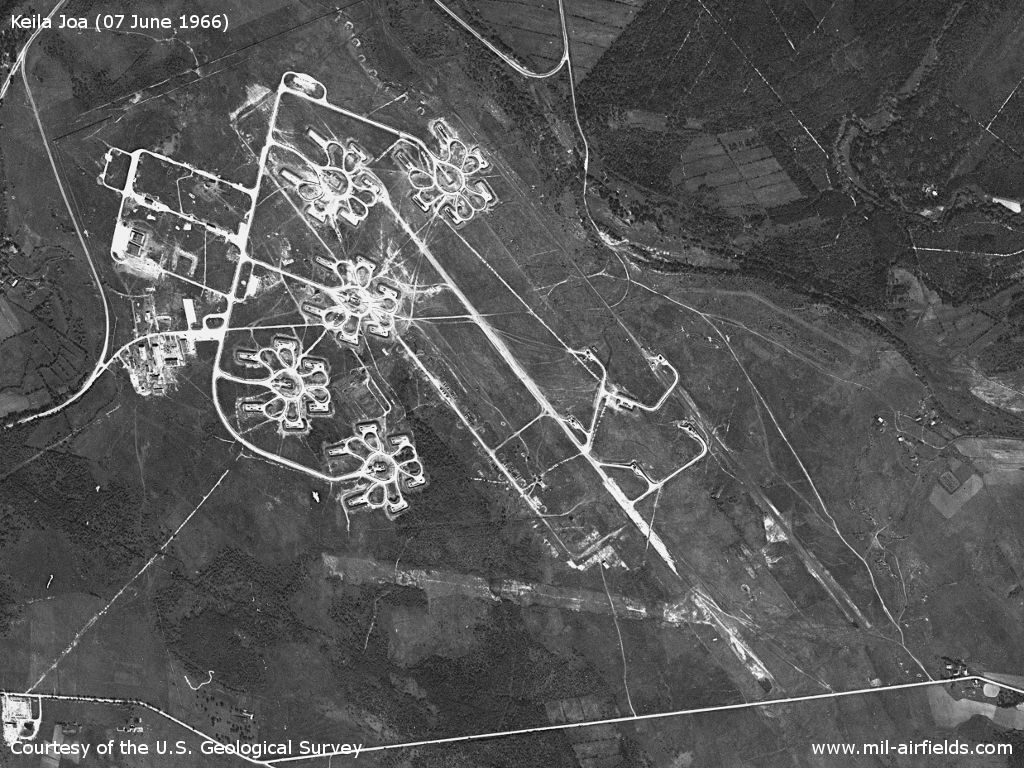 Former Keila Joa airfield, Estonia, on a US satellite image from June 1966