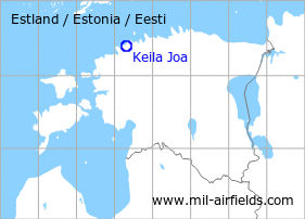 Map with location of Keila Joa Air Base / Missile Site