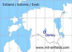 Map with location of Obriku Airfield