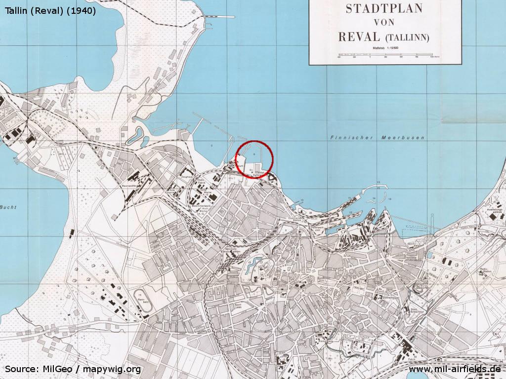 Tallinn seaplane station estonia military airfield directory tallinn estonia seaplane station on a city map 1940 gumiabroncs Choice Image