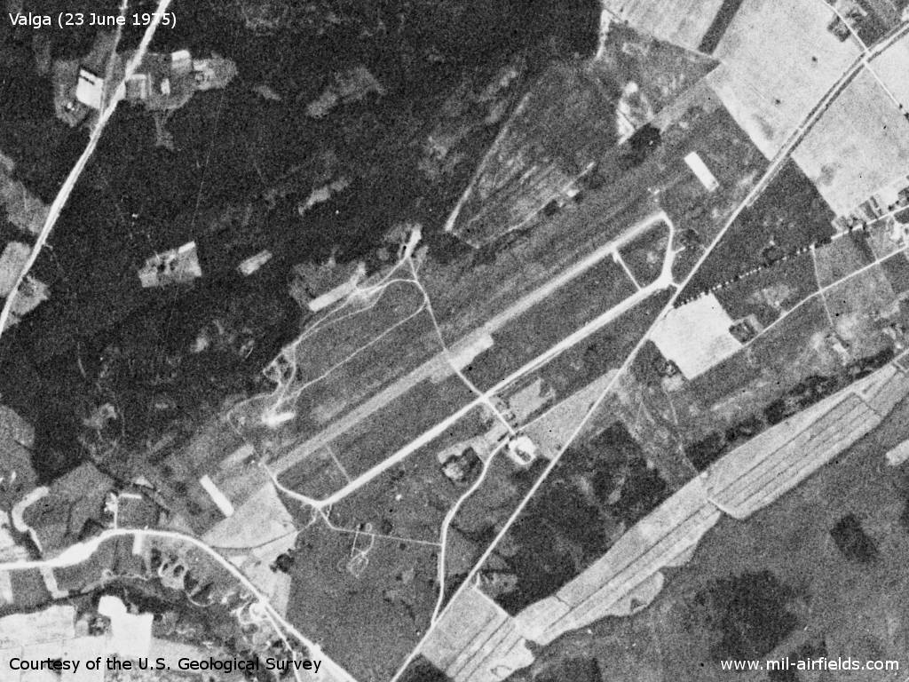 Soviet Airfield Valga, Estonia, on a US satellite image June 1975