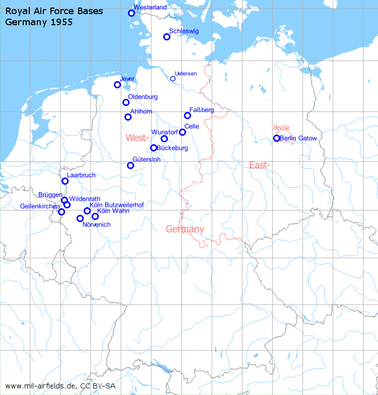 Royal Air Force Raf Bases In Germany Military Airfield Directory