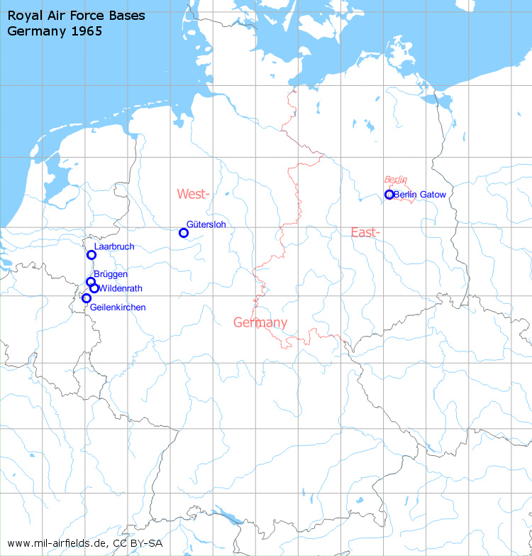 Map Of Germany Over The Years.Royal Air Force Raf Bases In Germany Military Airfield Directory