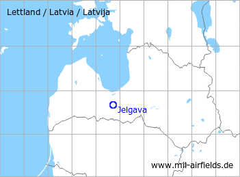 Map with location of Jelgava Air Base