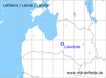 Map with location of Lielvārde Air Base
