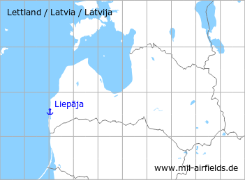 Map with location of Liepāja Seaplane station