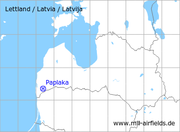 Map with location of Paplaka Heliport