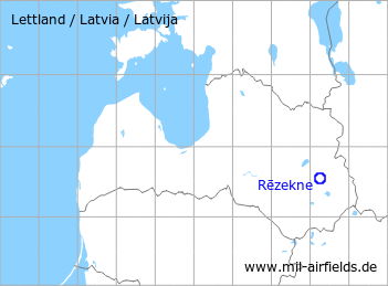 Map with location of Rezekne Airfield