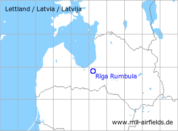 Map with location of Riga Rumbula Air Base