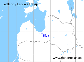 Map with location of Riga Airport
