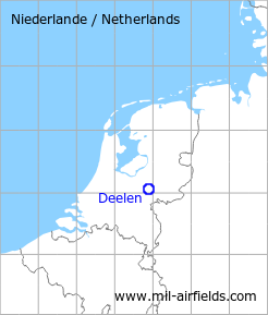 Map with location of Deelen Air Base, Netherlands