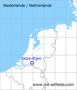Map with location of Gilze-Rijen Air Base, Netherlands