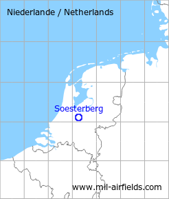 Map with location of Soesterberg Air Base, Netherlands
