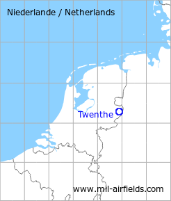Map with location of Twenthe Air Base, Netherlands