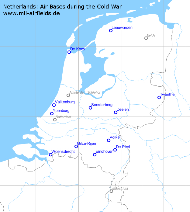 Netherlands: Air Bases and Military Airfields | Military Airfield ...