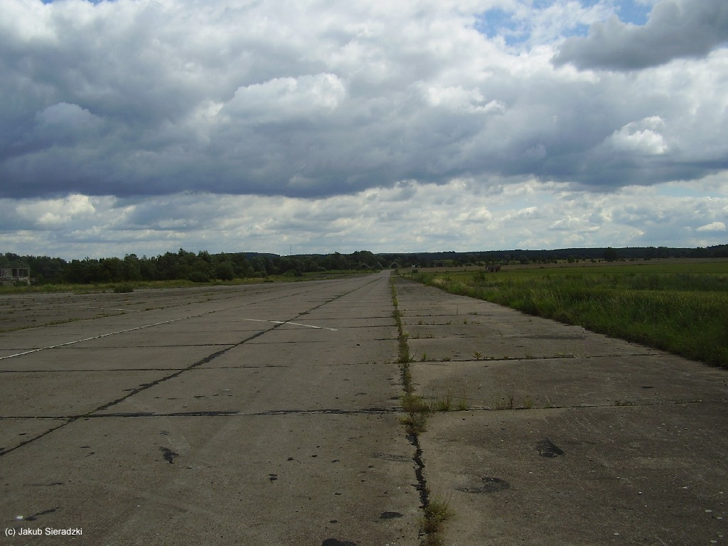Taxiway at Chojna airfield, Poland