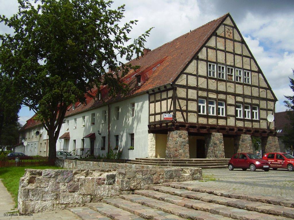Building of former German Air Base Königsberg Neumark