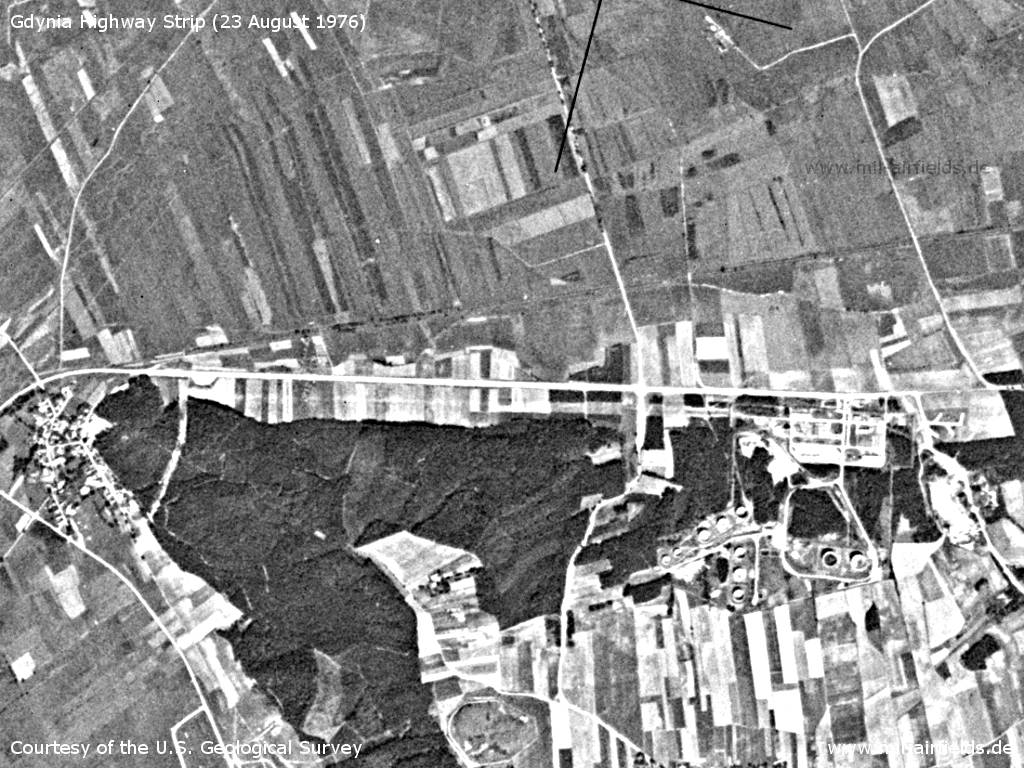 Gdynia Highway Strip, Poland, on a US satellite image 1976