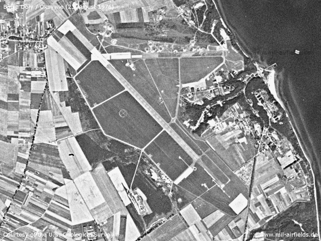 Gdynia Babie Doły Air Base, Germany, on a US satellite image 1976