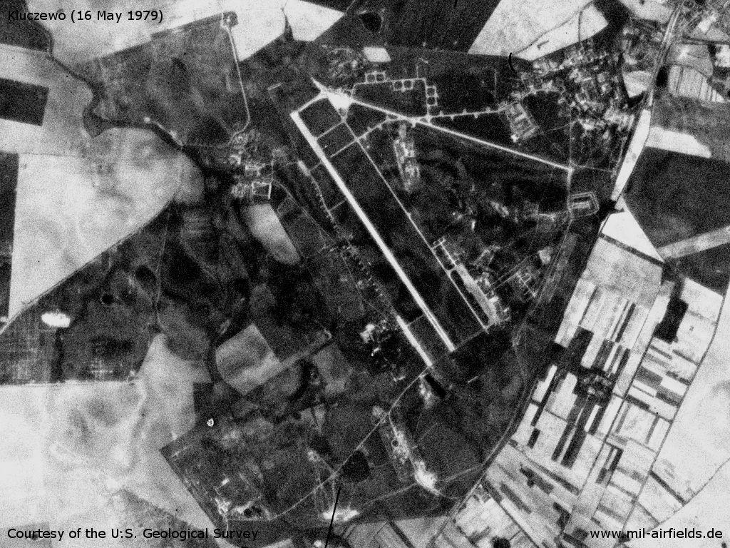 Flugplatz Kluczewo auf einem Satellitenbild 1979