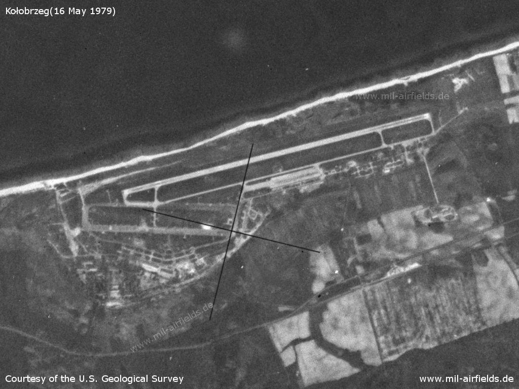 Kołobrzeg Bagicz Air Base, Poland, on a US satellite image 1979