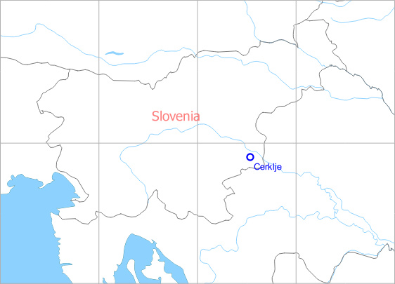 Map with location of Cerklje Air Base, Slovenia