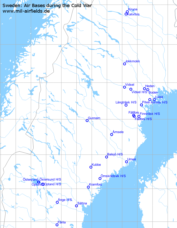 Sweden Air Bases And Military Airfields Military Airfield Directory - Jokkmokk sweden map