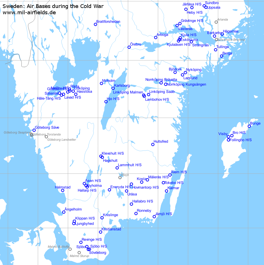 Sweden Air Bases And Military Airfields Military Airfield Directory - Sweden map eskilstuna