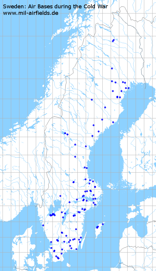 Sweden Air Bases And Military Airfields Military Airfield Directory - Sweden radar map