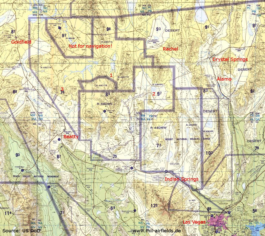 Area 51 Kawich Range Nevada Replica Of Altenburg Air Base